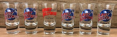 Planet Hollywood Shot Glass Lot Hong Kong New Orleans Dallas San Diego Chicago