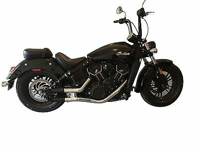 2015-2018 Indian Scout Sixty Radiant Cycles Shorty GP Exhaust Slip on pipe Black