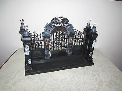 Cemetery Gate for Lemax Village or Table Top Display Black Iron Gates Gothic