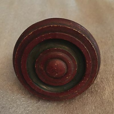 Antique Colonial Solid Bronze Door Knob / Original Patina #2