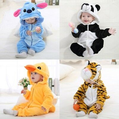 Newborn Baby Infant Boy Girl Romper Hooded Jumpsuit Bodysuit Outfits Clothes Hot