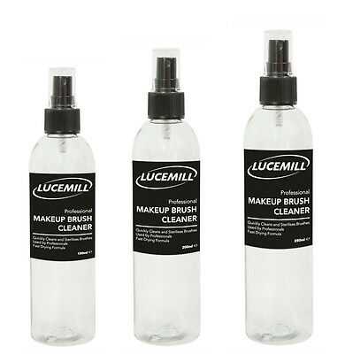 Lucemill Professional MAKE UP BRUSH Cleaner Solution & SPRAY TOP 150ml to 250ml