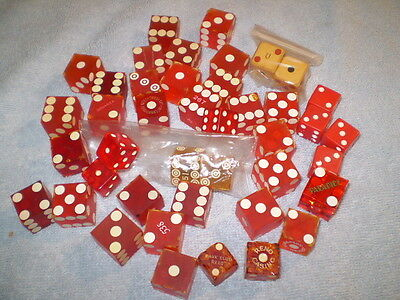 Vintage Casino Dice Collection Gambling Dice