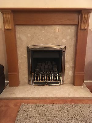 living flame gas fire and surround picclick uk. Black Bedroom Furniture Sets. Home Design Ideas