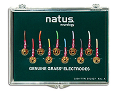 "Natus F-E6GH-48 Grass Electrodes 6mm Gold Cup-Disc Lead length about 122cm (48"")"