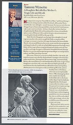 "Tammy Wynette, 2000 Magazine Print Clipping. ""Book Review"""
