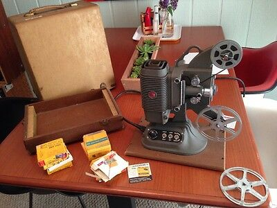 Vintage Dejur Model 750 Movie Projector 8MM (Made in USA)