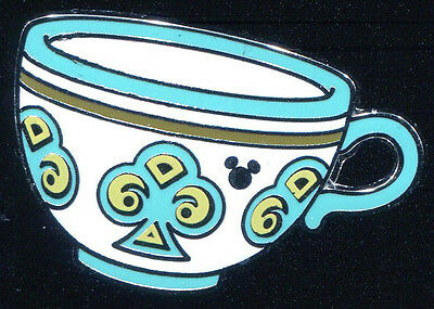 DLR 2015 Hidden Mickey Mad Tea Party Cups Teal Turquoise Disney Pin 112207