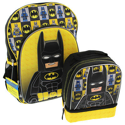 Lego Batman 3D Molded 16 inch Backpack and Lunch Box Set LBKIT101