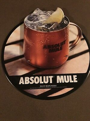 Absolut Vodka Moscow Mule Metal Raised Bar Advertising Sign Country of Sweden