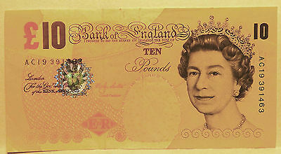 2000 10 pound note on Bank of England