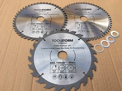 """3PC 216MM Circular Saw Blade 24T/48T/60T BORE 30MM With 4 Bush 25.4,20,16mm,5/8"""""""
