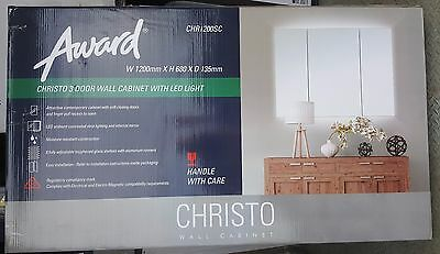 Award Christo Bathroom Wall Cabinet With Led Light Shaving Cabinet Rrp $499