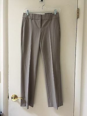 NWT ANN TAYLOR Petite SIGNATURE FIT TROUSERS Brown/Tan size 0P