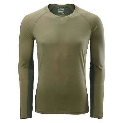 Kathmandu Koruna Mens Insect Repelling Long Sleeve Tee Hiking T-Shirt Top Green