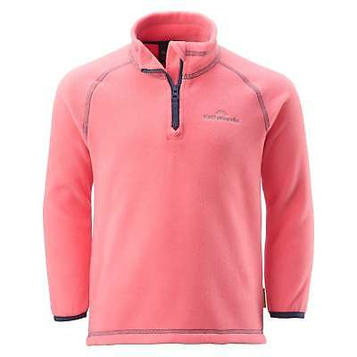 Kathmandu Ridge Kids Girls 2-6 Years Warm 1/4 Zip Fleece Jacket Pullover Pink