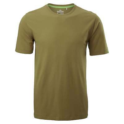 Kathmandu Mens Fairtrade Cotton Tee Crew Neck Short Sleeve T-Shirt Top Green