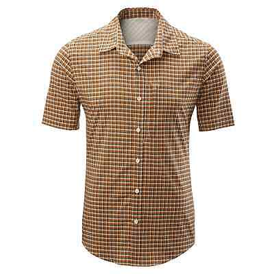 Kathmandu Barros Mens Lightweight Slim Short Sleeve Hiking Travel Shirt v2 Brown