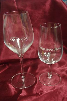 Collectable wine glasses Domaine Chandon & Yering Station