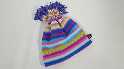 Hanna Andersson Girl's Pink Striped Fleece Winter Hat Size M