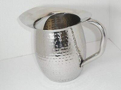 Winco WPB-3, 3-Quart Deluxe Bell Pitcher,Weather /  hammered Stainless Steel