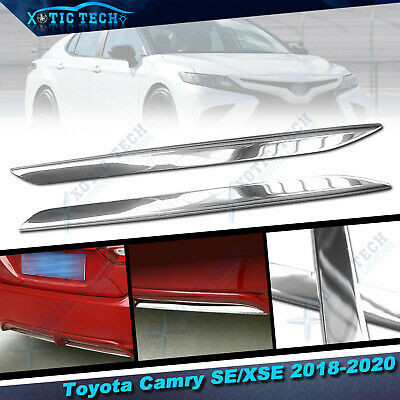 For Toyota Camry SE XSE 2018-2020 Stainless Chrome Trims - Rear Bumper Lower Lip