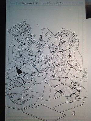 IDW Transformers Robots In Disguise #32 Original Cover Art Casey Coller Optimus