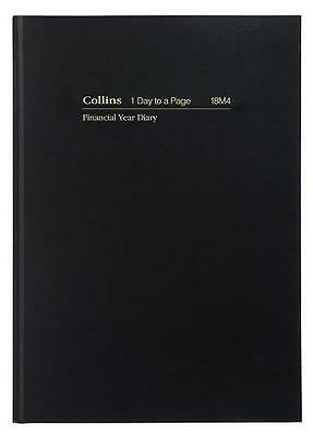 Diary Collins Financial 18M4 A5 Day To A Page 60 Minute Black F2017/2018