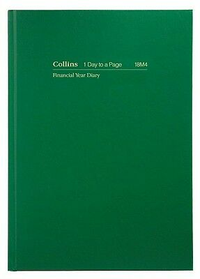 Diary Collins Financial 18M4 A5 Day To A Page 60 Minute Green F2017/2018