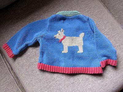 Mini Boden 3-6 months sweater cardigan dog