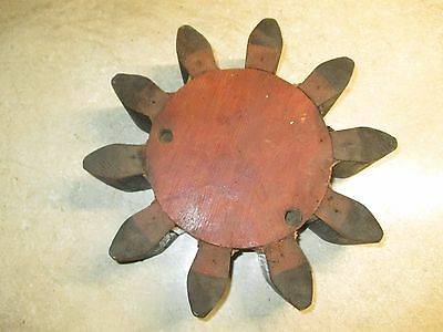 Antique Wood Industrial Foundry Pattern Mold Sun Gear Cog Ogden Iron Works Utah