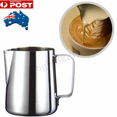 350ML Espresso Coffee Milk Jug With Frothing Thermometer Pitcher Stainless Steel