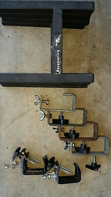 Bulk lot H stands and clamp hooks
