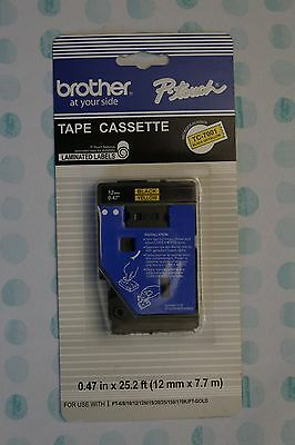 Brother P-Touch Tape Cassette TC-7001 Black on Yellow 1/2""