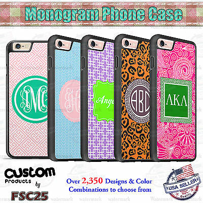 Custom Monogram Designs Personalized phone case cover for Samsung Galaxy LG HTC