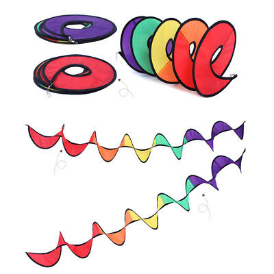 110cm Screw Windmill Foldable Rainbow Colorful Wind Spinner Tent Orchard Decor