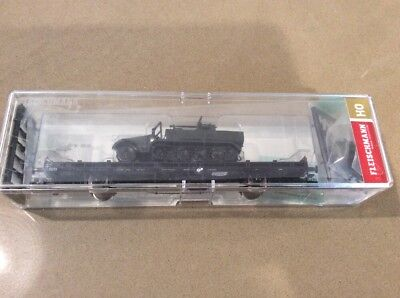 Model Trains Limited Ed Fleischmann 523610  Flat Wagon. With  Military Load