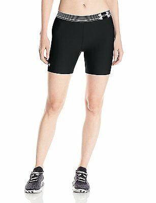 Under Armour UA Heatgear Women's Compression Mid Short Black Size XS *NWT $30