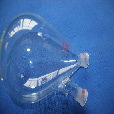 2000ml(2Litre) Recovery Flask, Rotary Evaporator Flask,2-neck, heavy wall,24/29