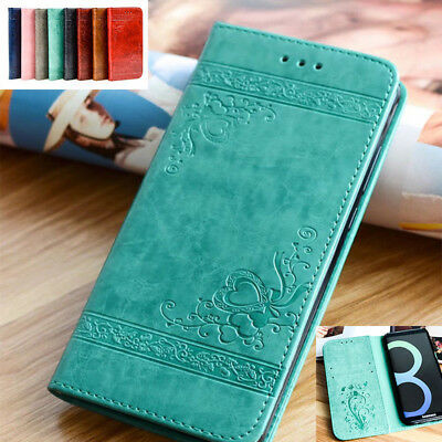 Retro Magnetic Flip Leather Wallet Stand Case Cover For Samsung Galaxy Phones
