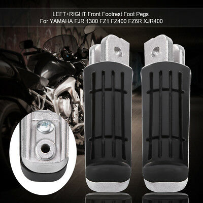 2x Motorcycle Front Footrest Pedals Foot Pegs for Yamaha FZ6R FJR1300 TDM/XJ 900