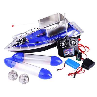 Mini Wireless Fishing Lure Bait Boat Wind-resistant 150M Remote Control Red Blue