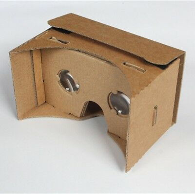 Cardboard Version VR Virtual Reality 3D Glasses for 3.5 - 6.0 inch iphone ios