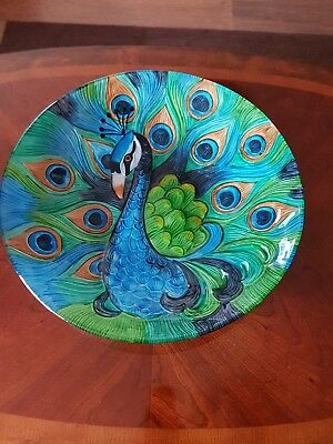 Large Peacock bowl / plate