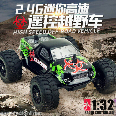 Virhuck Mini Off-road RC Racing Car Truck Vehicle 2WD Remote Control 1:32 Scale