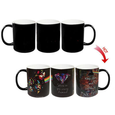 █ Pink Floyd Rock Band Hot Water Color Changing Magic Coffee Cup Mug BS046