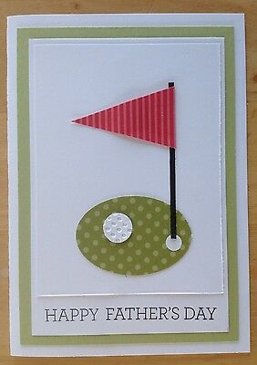 Handmade card; 'Happy father's day', racing cars with green.