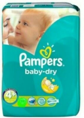 Pampers couches baby dry taille 4+ x 9 couches