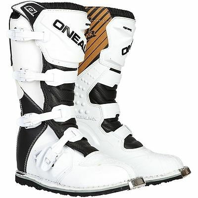Oneal New 2018 Mx Rider Adult Boot Dirt Boot White / Black Cheap Motocross Boots