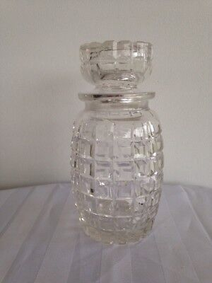Antique Victorian Square Cut Crystal Pickle Jar